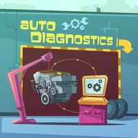 Illustrazione di diagnostica automatica vettore