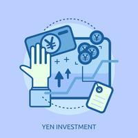 Progettazione concettuale dell'illustrazione di investimento del dollaro vettore