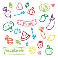 disegno vettoriale di frutta e verdura