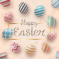 Buona Pasqua. Modello di uovo realistico.