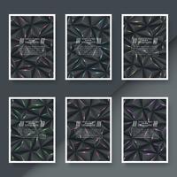 Modello di carta business - sfondo di origami.