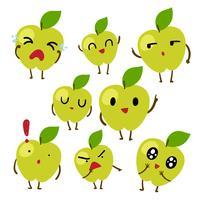 disegno vettoriale di carattere di mele
