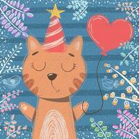 Simpatica piccola principessa - personaggi di gatto