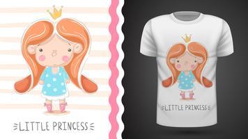 Piccola principessa: idea per la t-shirt stampata vettore