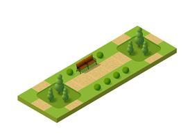 Parco set isometrico 3D vettore