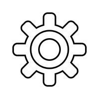 Impostazione linea icona nera