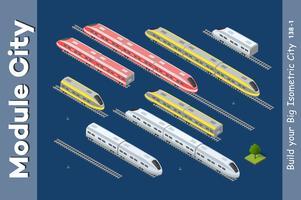 Trasporto 3D isometrico vettore