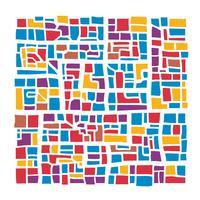 Città astratta multicolore