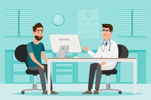 concetto medico. medico e paziente nella stanza interna dell'ospedale