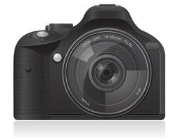 illustrazione vettoriale di foto fotocamera