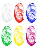 impronta digitale di diversi colori illustrazione vettoriale