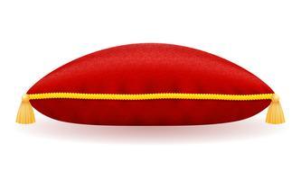 illustrazione vettoriale di cuscino di velluto rosso