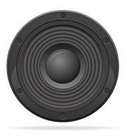 illustrazione vettoriale di altoparlante acustico