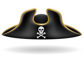 illustrazione di vettore del cappello tricorno di pirata