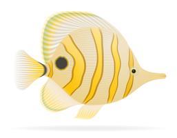 illustrazione vettoriale di pesci d'acquario