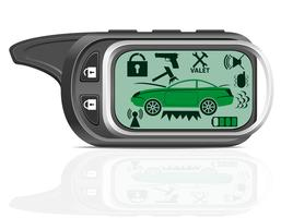 illustrazione vettoriale di allarme auto remoto
