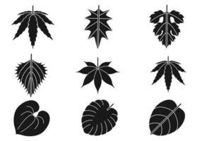 Pacchetto di foglie Silhouette vettoriale