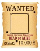 annuncio ricercato illustrazione vettoriale poster criminale