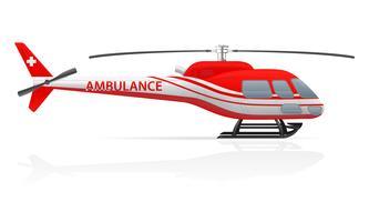 illustrazione vettoriale di elicottero dell'ambulanza