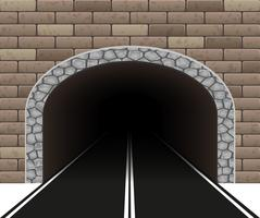 illustrazione di vettore del tunnel dell'automobile