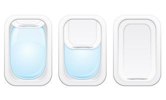 illustrazione vettoriale di aereo oblò