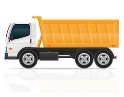 autocarro a cassone ribaltabile per l'illustrazione di vettore della costruzione
