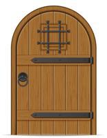vecchia illustrazione vettoriale porta di legno