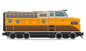 illustrazione di vettore del treno locomotiva ferroviaria