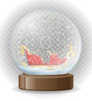 illustrazione vettoriale trasparente globo di neve