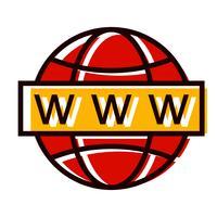 Disegno dell'icona di ricerca Web
