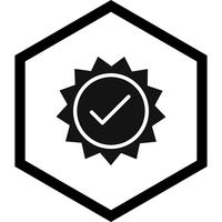 Disegno dell'icona timbro valido vettore