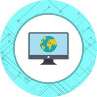 Disegno dell'icona di pagina Web vettore