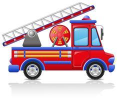 illustrazione vettoriale di camion dei pompieri