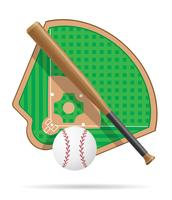 illustrazione vettoriale campo di baseball