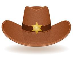 illustrazione vettoriale di cappello da cowboy sceriffo