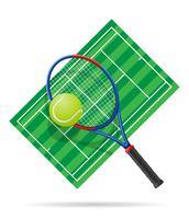 illustrazione vettoriale di campo da tennis