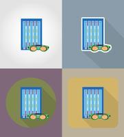 illustrazione piana di vettore delle icone della piscina