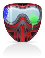 illustrazione vettoriale di paintball maschera