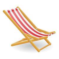 illustrazione vettoriale di spiaggia sedia