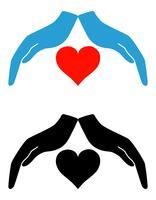 concetto di protezione e illustrazione vettoriale amore