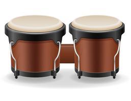 illustrazione di vettore di strumenti musicali bongo tamburi