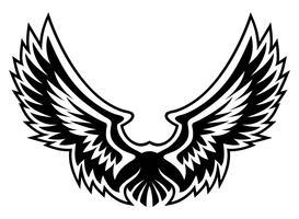 Grafica vettoriale logo ala