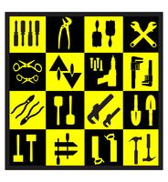 Una serie di strumenti vettore