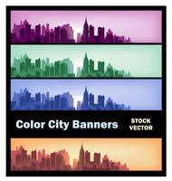 Bandiere della città vettore