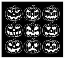 Zucche di Halloween vettore