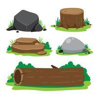 disegno di raccolta vettoriale di pietra