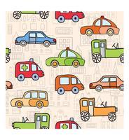 Trasporto nello stile del cartone animato vettore
