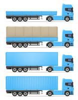 illustrazione vettoriale di camion semi rimorchio