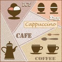 Tema del caffè vettore