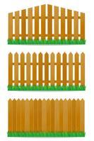 illustrazione vettoriale di recinzione in legno